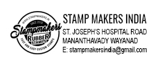 Address Stamp with logo, Address Seal with logo, Pre ink addess stamp with logo