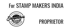 Designation Stamp with logo, Designation Seal with logo, Pre ink Designation stamp with logo