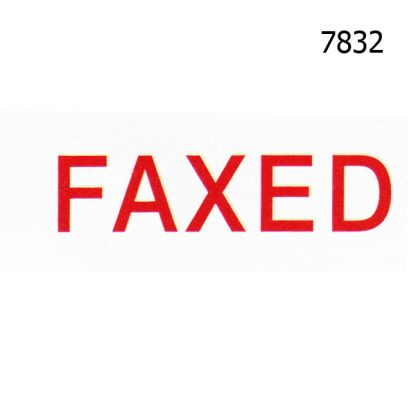 FAXED STOCK STAMP