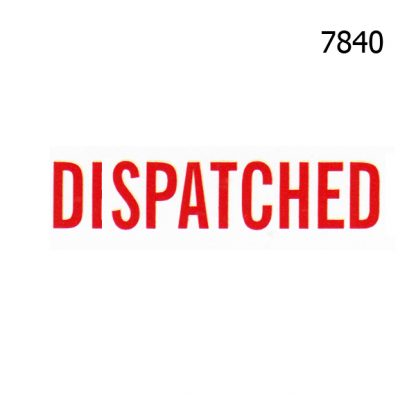 DISPATCHED STOCK STAMP