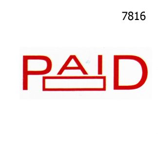 paid stock stamp