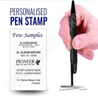 Pen stamp, Pen Seal, Pen with stamp