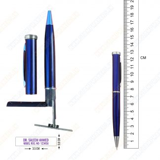 pen stamp blue body
