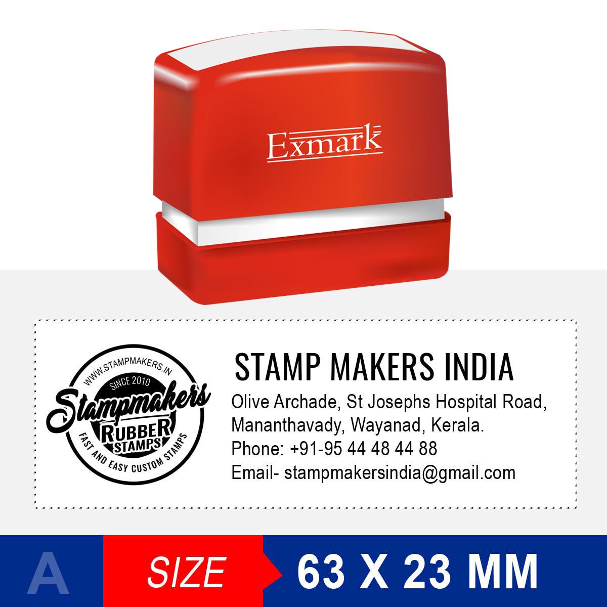 Address Stamp with logo 63X23 mm (Exmark)