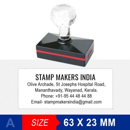 Address Stamp with Crystal Handle