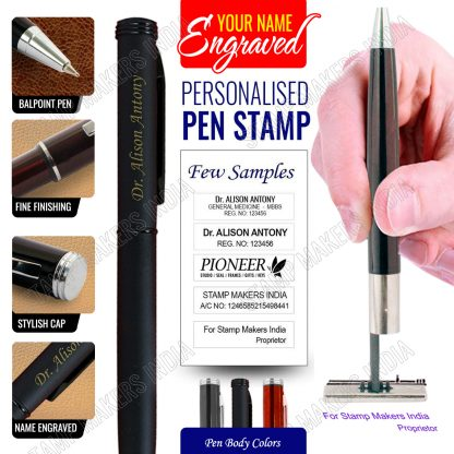 Pen Stamp with name engraved